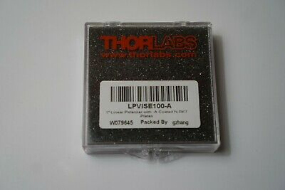 Thorlabs - Lpvise100-a - 1 Linear Polarizer With N-bk7 Windows 400-700 Nm
