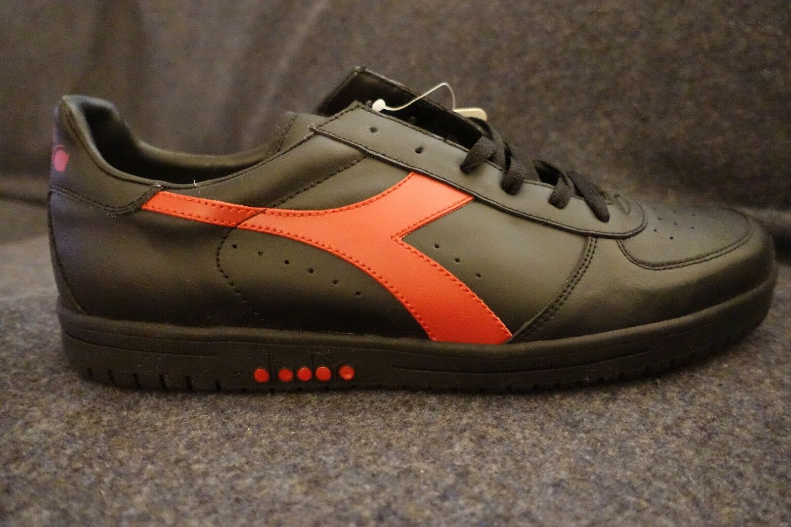 Mens Black Red 13 Diadora Delta Shoes New Box NOS PERFECT RARE Not produced!