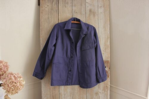 Blue Jacket Work wear French clothing Bill Cunningham denim faded lovely