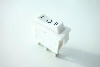 Wippschalter Netzschalter weiß 230V/15A 1-Polig Geräte Schalter EIN/AUS/EIN
