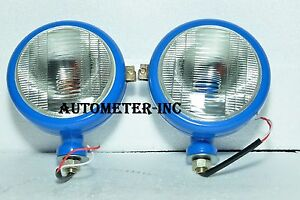 Ford Tractor Head Light Set LH  & RH  12 V Blue with bulb