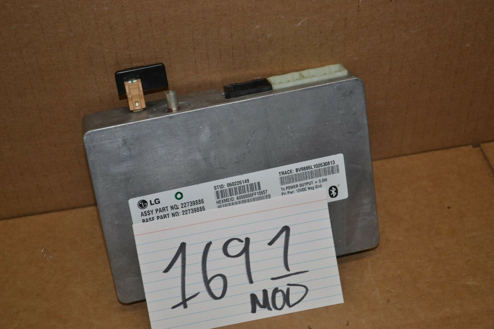 Used Buick Regal Engine Computers For Sale 2000 Ls Fuse Box 2011 Bluetooth Control Module Computer 1691 Mod