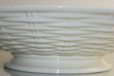 NEW Williams Sonoma AERIN White Basketweave Ceramic HUGE Serving Bowl ITALY (William Huges)