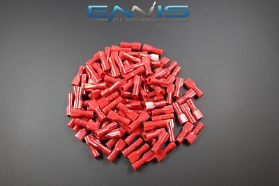 - 18-22 GAUGE 100 PACK NYLON FULLY INSULATED QUICK DISCONNECT FEMALE .187 TERMINAL