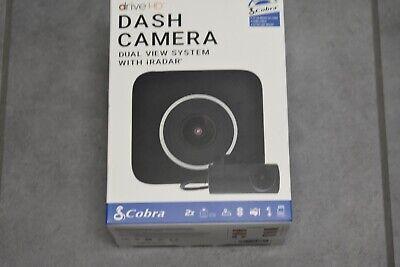 New- Cobra Electronics Drive HD Dual View Dash Camera -1080p Front, 720p Rear