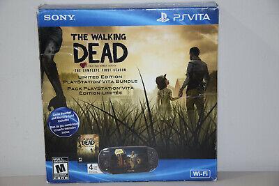 Sony PlayStation PS Vita Wi-Fi The Walking Dead Bundle Black Handheld Sytem +8GB