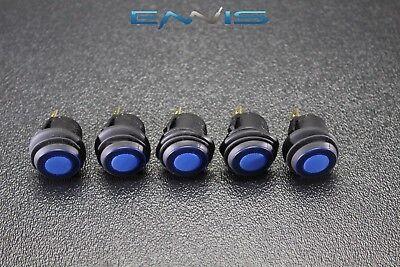 5 Pcs Rocker Switch On Off Blue Toggle Led 12v 16 Amp 3 Pin Is-ec-wp1216blu