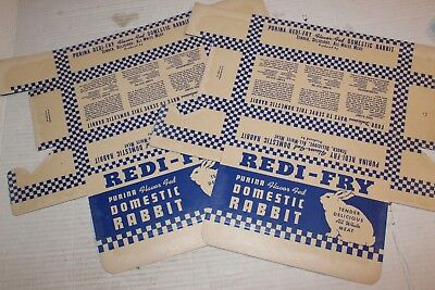 Redi Fry Purina Havar Fed Domestic Rabbit Tender White Meat Lot of 2 Vtg NEW NOS for sale  Shipping to Canada