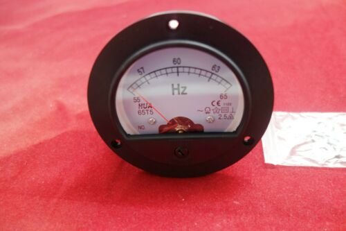 1PC Analogue Frequency Panel Meter 55-65HZ 110V Round Dia.90mm 65T5 plastic