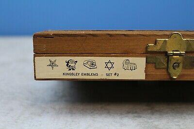 Kingsley Hot Foil Stamping Machine Type Emblems 123 Piece Set 24pt On 18pt Tbody