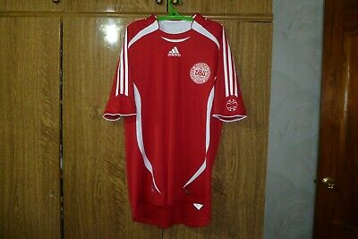 Denmark Adidas Football Shirt Home 2006/2007/2008 Soccer Jersey Red Men Size L ()