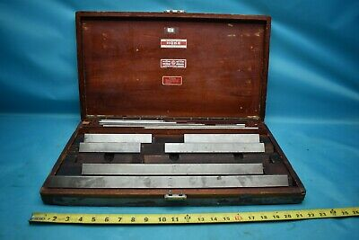 Used Pratt Whitney 5-20 Gage Block Missing 2 Blocks W Wooden Case