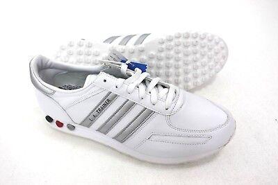 Adidas LA Trainer Originals Mens Leather White Gray Size US 11.5
