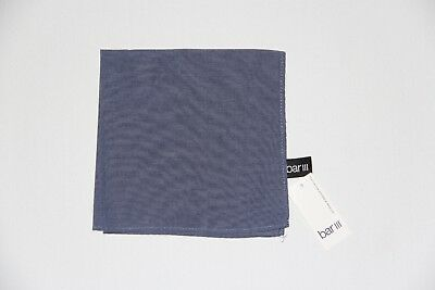 New Bar III Men's Chambray Solid Blue Pocket Square