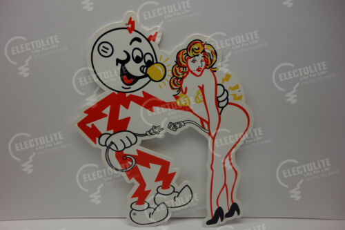 "Reddy Kilowatt Power Electric POPULAR ""DEVIANT"" ELECTRICIAN GIFT 22""H X 15 3/8""W"