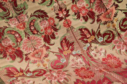 Vintage Jacquard Silk Fabric