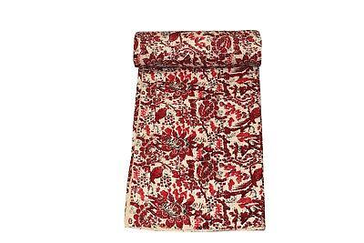 Bird Print King Size Kantha Quilt  ,Kantha Blanket,Bed Cover,Bedspread,sheet