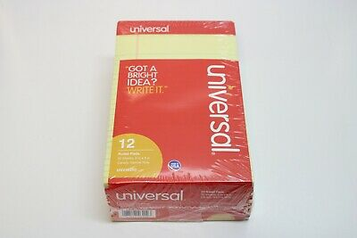 12 Universal Writing Pads 8 X 5 Narrow Rule Canary Yellow 1 Pack Of 12
