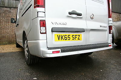 VAUXHALL VIVARO 15   18 REAR BUMPER PROTECTOR OVER THE EDGE  FULL LENGTH