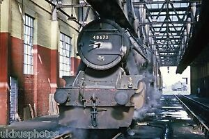 British Rail LMS 8F No.48673 Kirkby In Ashfield Shed 30/03/65 Rail Photo R0084