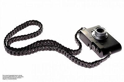 Kameragurt aus Leder in Schwarz | Rock n Roll Camera Straps | Slim Edition |Gr.S