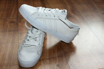 ADIDAS NIZZA SIZE UK 7.5 LEATHER MENS SNEAKERS 100% GENUINE EXCELLENT CONDITION