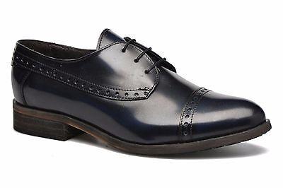 DKODE Sally Damen Slipper Halbschuhe Schnur Deep navy blau Leder Gr.35 Deep Navy Schuhe