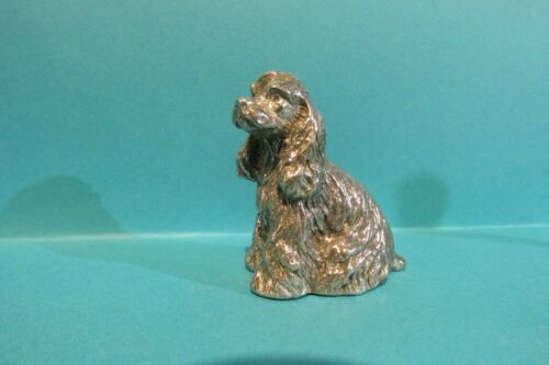 Pewter Setter Dog  Figurine 1 3/4 inches tall