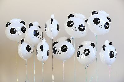 10pk Panda Foil Balloon Holiday Party Decoration Christmas Birthday Halloween - Halloween Birthday Party Decor