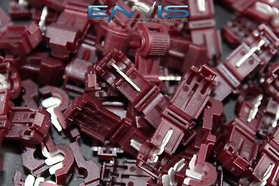50 Pcs 18-22 Gauge T-tap Red Crimp Terminal Awg Wire Splice Connector Rtt