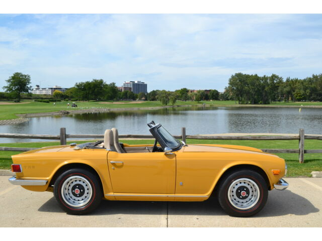 Image 1 of 1972 Triumph TR-6 Yellow…