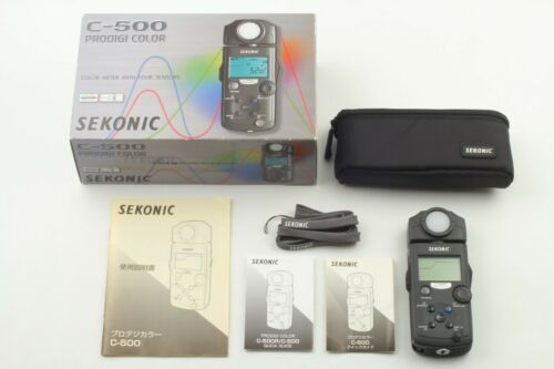 【Almost Unused in Box】 Sekonic C-500 Prodigi Color Meter w/ Pouch from Japan 404