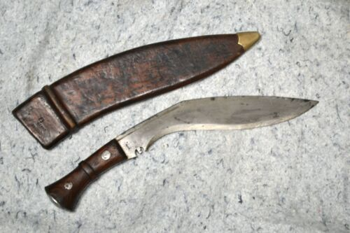 Original British Issue WWII 1945 Dated MkIII Kukri with Maker Marks & Sheath