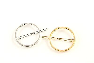 Haarklammer Haarspange Ring gold silber Haarschmuck A525c ()