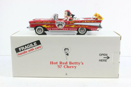 1957 CHEVROLET CHEVY BEL AIR HOT RED BETTY BOOP DANBURY MINT CAR