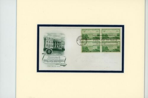 The White House, home of the Presidents  and First day Cover of its own stamp