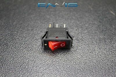 Rocker Switch On Off Mini Toggle Red Led 12v 16 Amp Ec-1220rd