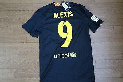 1137a9fb7 FC Barcelona  9 Alexis 100% Original Jersey Shirt S 2013 14 3rd Still BNWT  NEW
