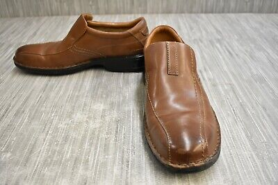 Clarks Escalade Step 13919 Leather Loafers, Men's Size 8.5 M, Brown