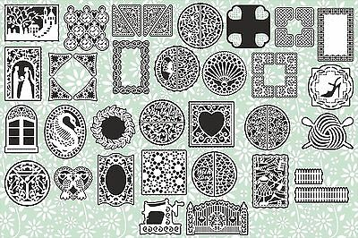 Brother ScanNCut Corner, frame, layer & topper templates CD1067