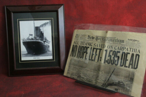Rare Authentic 1912 Titanic Framed Signed Photo By The Last Living Survivor ...