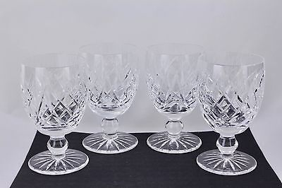 """SET OF 4 WATERFORD CRYSTAL DONEGAL 5-1/4"""" WATER GOBLETS #1 - MINT"""