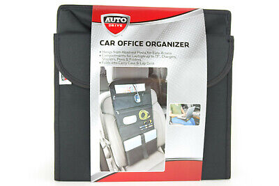 Auto Drive Car Office Organizer Carry Case Hangs From Seat Folds Into Lap Desk
