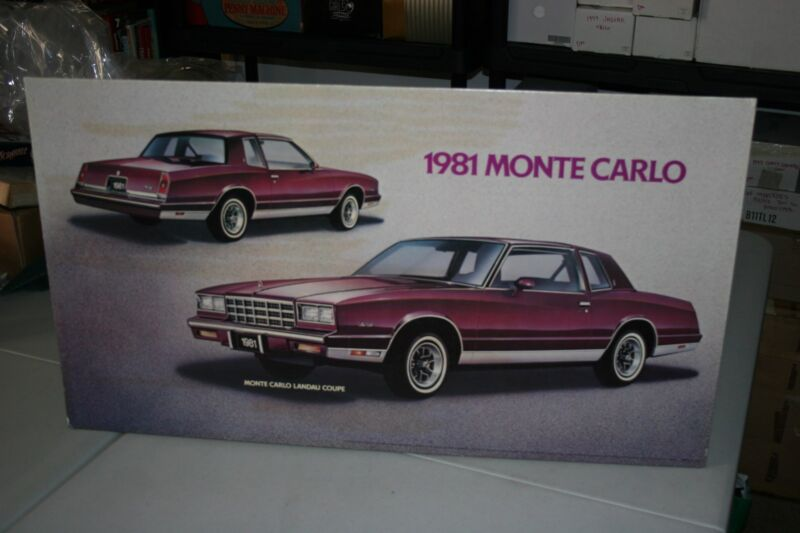 1981 CHEVROLET MONTE CARLO  DEALERSHIP PROMOTIONAL WALL POSTER