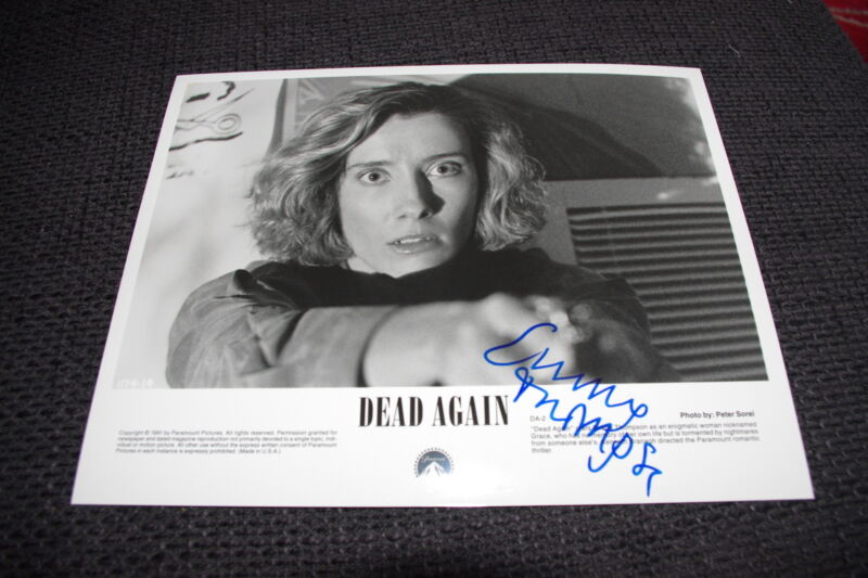 "EMMA THOMPSON signed Autogramm auf 20x25 cm ""DEAD AGAIN"" Bild InPerson LOOK"