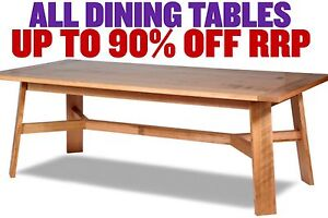 FACTORY 2ND DINING TABLES - up to 90% OFF RRP Leumeah Campbelltown Area Preview