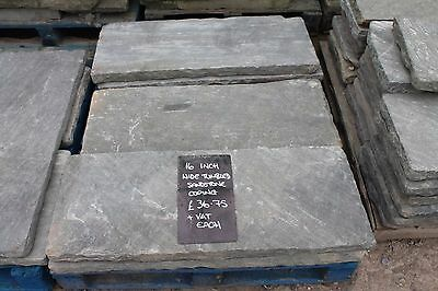 16 Inch Wide Tumbled Sandstone - Coping, Fireplace Hearth, Steps. Paving Warwick