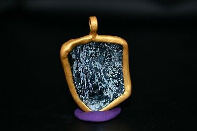 24 Karat Gold wrapped in Stainless Steel Floating Gold Amphora Vial Necklace