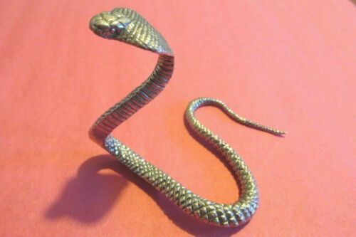 Six Inch Long Pewter  Cobra Snake Figurine