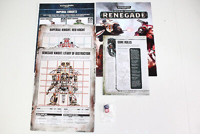 Warhammer 40k Imperial Knights: Renegade set of accessories rulebook dice
